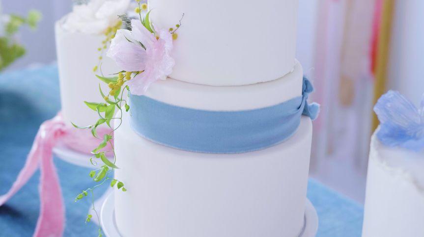 Beautifully iced wedding cake
