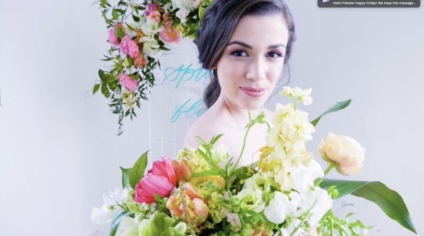 Candid bridal snap