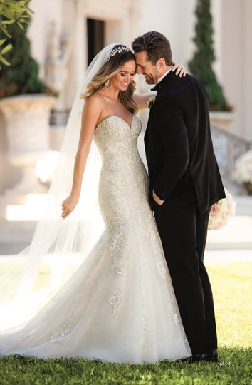 Gown and tuxedo