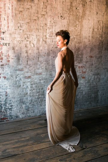 SashCouture Hollywood Glam dress, super feminine, no back