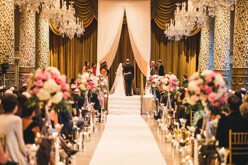Floral aisle decor