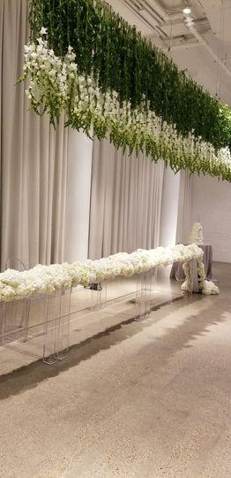 Hanging floral decor