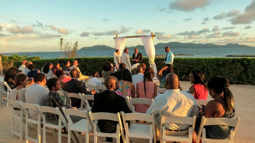 Oceanfront destination weddings on a two-villa private Anguilla estate. Ceremony, reception and...