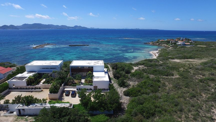 On Anguilla's Pelican Bay with stunning views of St. Martin's mountains. Secluded so your party can...