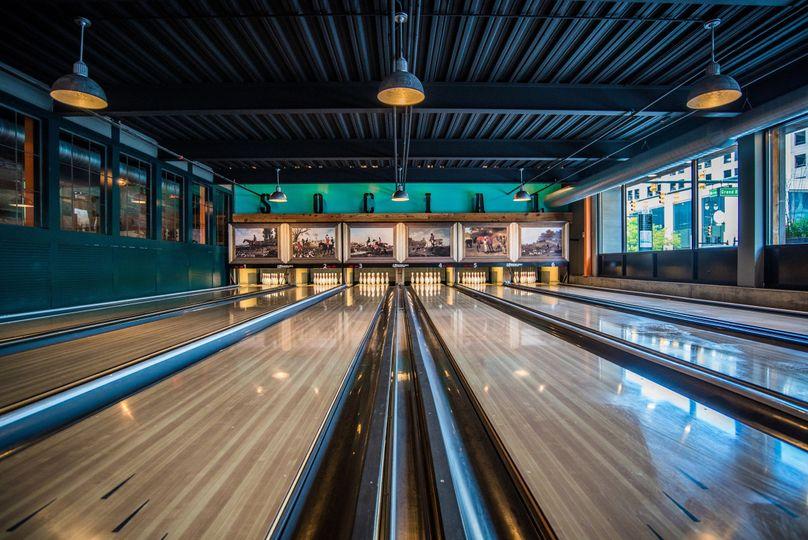 Main bowling lanes