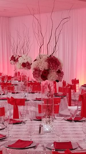 Romantic pink and reds