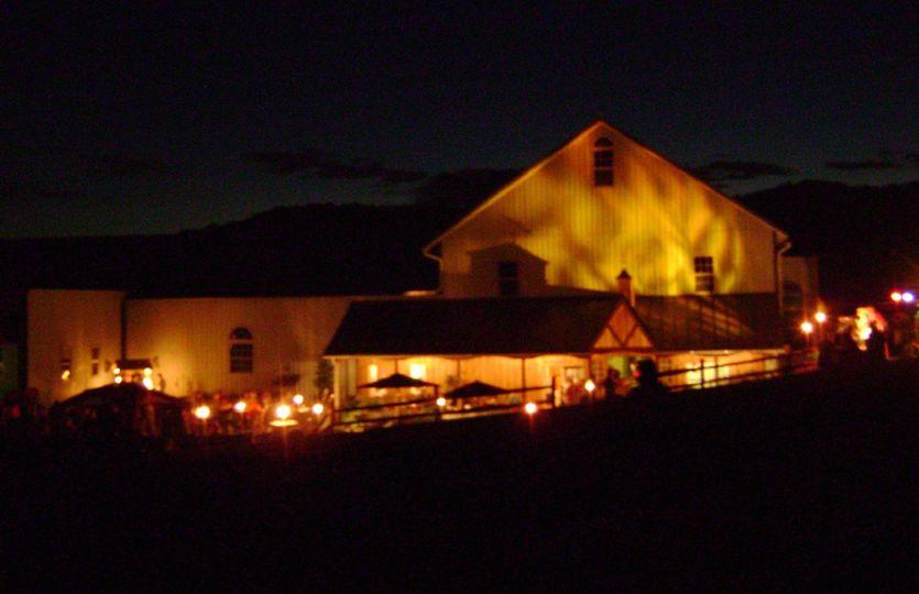Barn Wedding at night