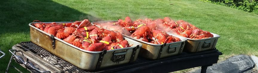 Lobsters on the Grill