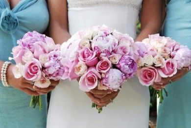 18pink roses wedding bouqu
