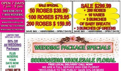 800ROSEBIG WHOLESALE WEDDING FLORIST 1