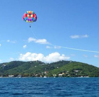 parasail in sky
