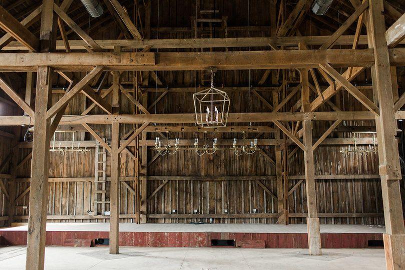 Interior of the barn
