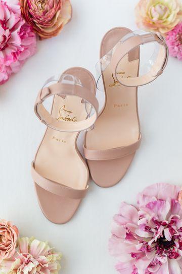Rose-gold heels