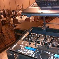 DJ's mixer board