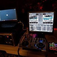 DJ's mixer equipment