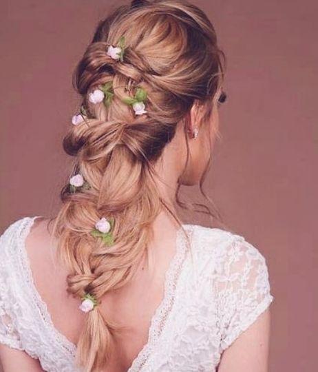 Lovely wedding braid