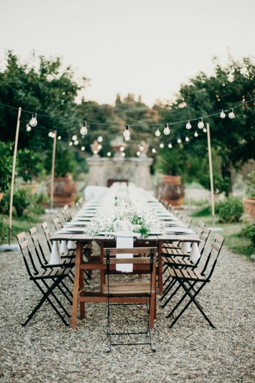 Al fresco and intimate wedding
