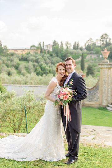 Just married in tuscany