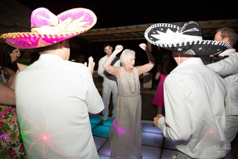 Mexican wedding party