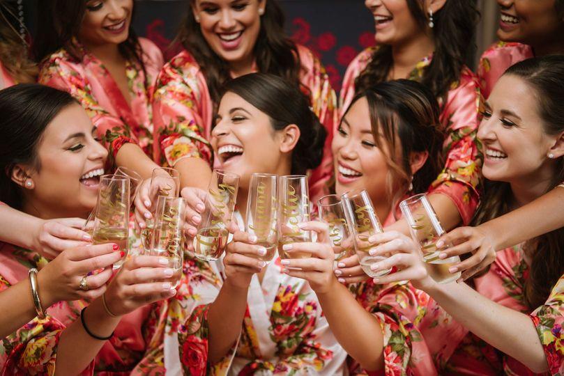 Bridesmaids floral robes