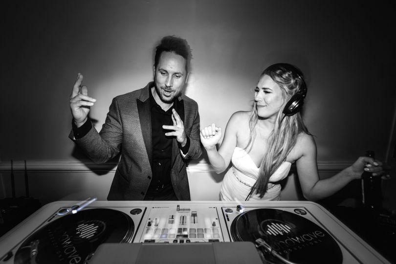DJ Chris + bride