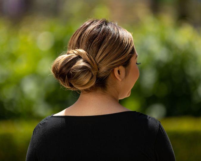 Sleek classic bridal bun