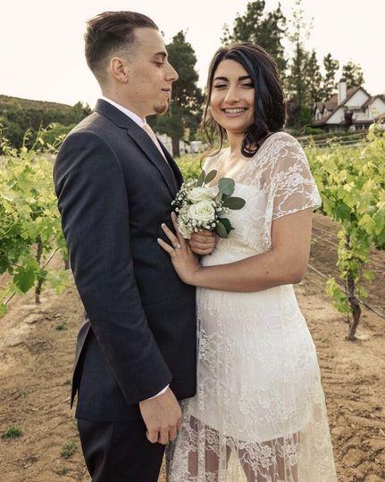 Intimate Winery Wedding