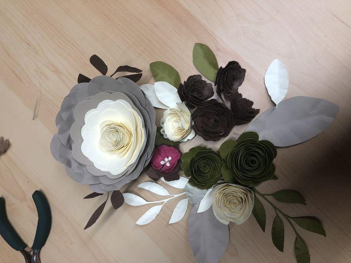 Roller paper flower samples.