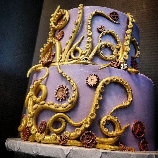 Steam Punk wedding cake