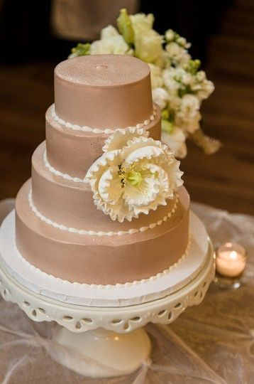 Mini 4 tier wedding cake