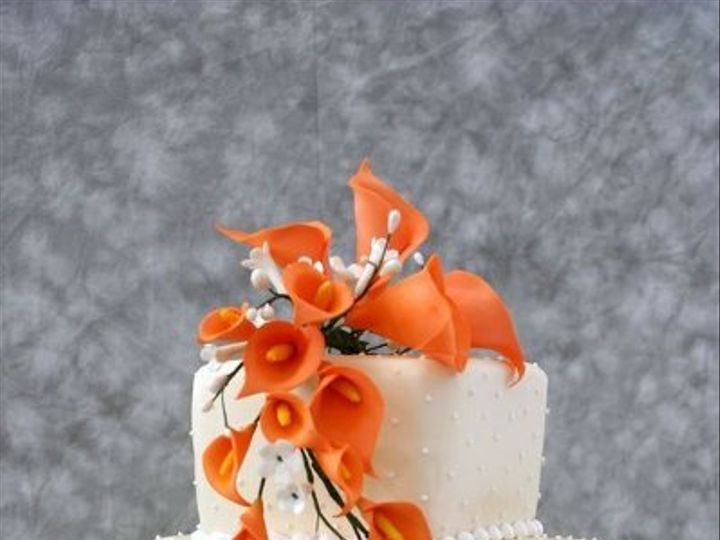Tmx 1269207104894 JadaWithFondantandSugarFlowerCascade Littleton, Colorado wedding cake