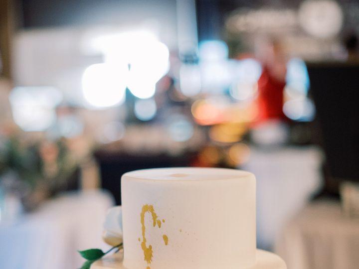 Tmx Black And Gold Watercolor Wedding Cake With Sugar Flowers Ali And Garrett Photography 51 8845 158482495415288 Littleton, Colorado wedding cake