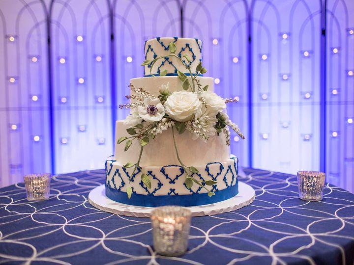Tmx Blue And White Cake Nicole Marie Photography 51 8845 158482494265393 Littleton, Colorado wedding cake