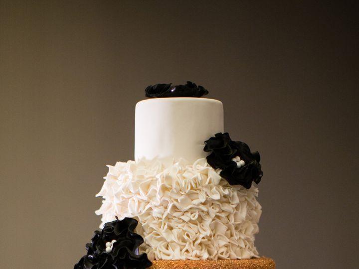 Tmx Fondant Tissue An Black Fantasy Flower Cake With Rose Gold 51 8845 158482495941603 Littleton, Colorado wedding cake