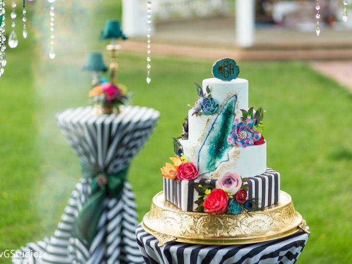 Tmx Geode 3 Tier Wedding Cake With Wafer Paper Flowers 51 8845 158482495262674 Littleton, Colorado wedding cake