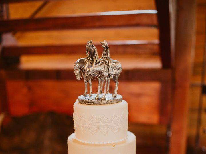 Tmx Western Theme Wedding Ckae By For The West And Wild Photography 51 8845 158482451187799 Littleton, Colorado wedding cake