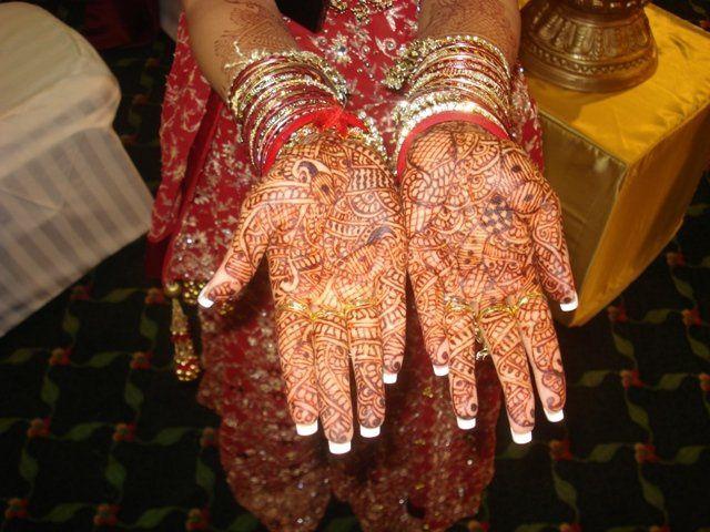 The bride's hand