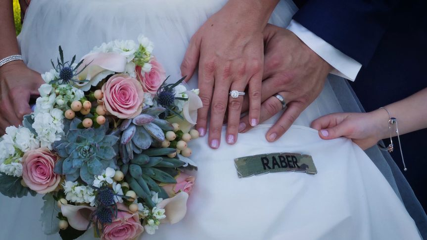 Hands with wedding bands
