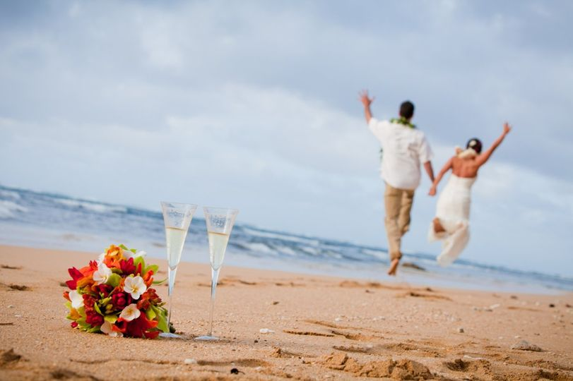 Bouquet by the sand