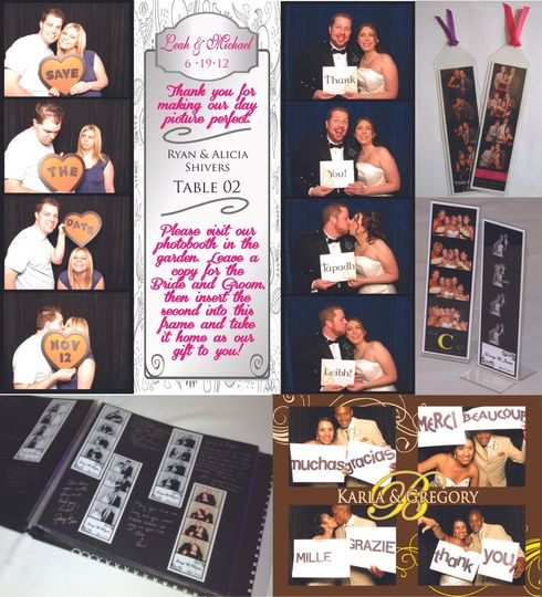 Qwik Picz Photo Booth Ideas & Extras. Save the Dates, Escort Cards, Thank You Cards, Bookmark...