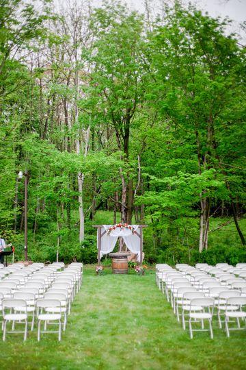 The wedding ceremony set-up