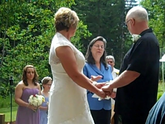 Blessing of Kathy and Gary Kramer's Wedding rings just before they shared their vows! They also...
