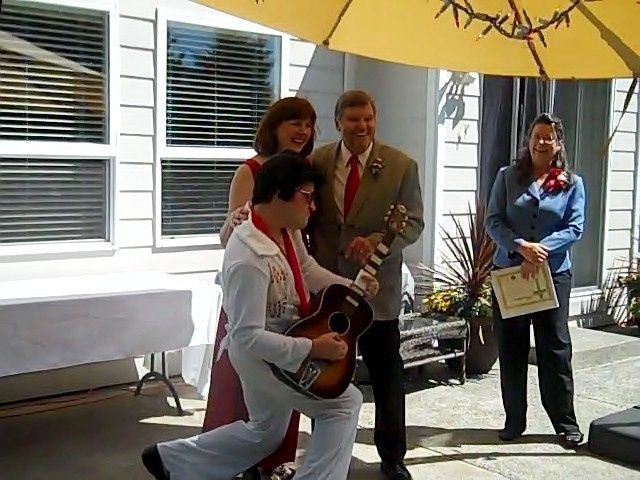 Kimmie surprised her fiance with an Elvis Wedding which was what he was hoping for! Elvis was played...