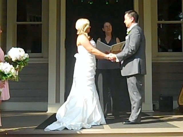 On Aug 16th, 2014, I was given the honor to officiate the lovely outdoor Wedding of Nikki Richter...