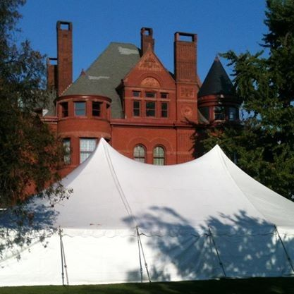 40X60 WHITE POLE TENT WITH WHITE SIDES