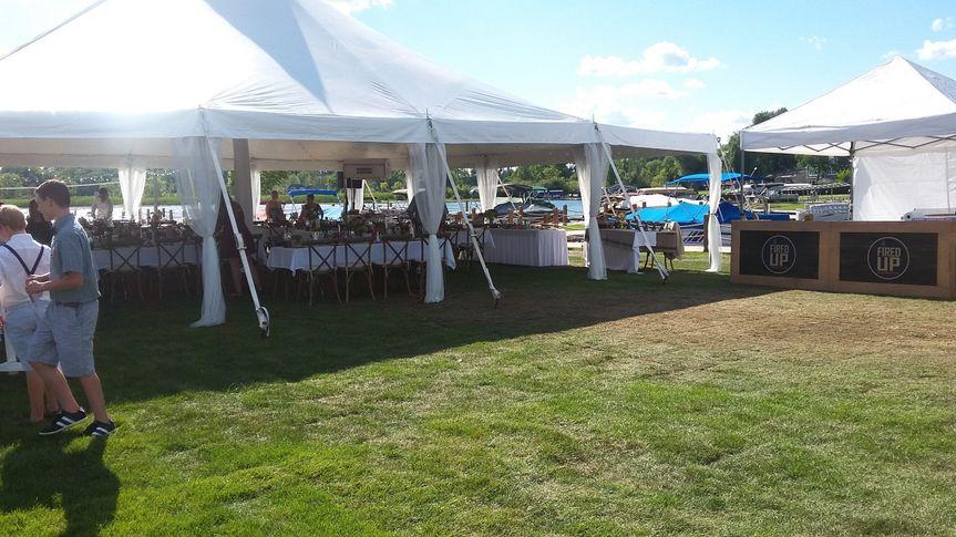 Lakeside wedding set-up