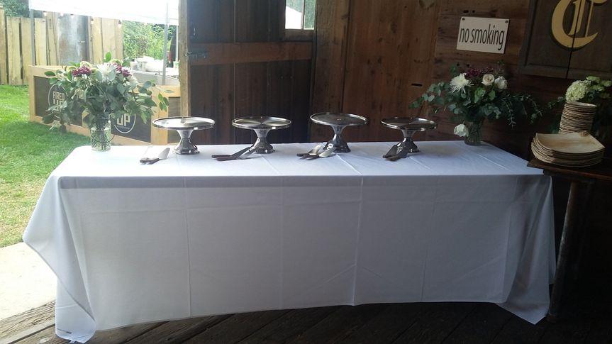 Table set up for rehearsal dinner