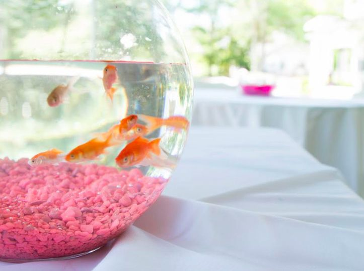 Fishbowl table centerpiece