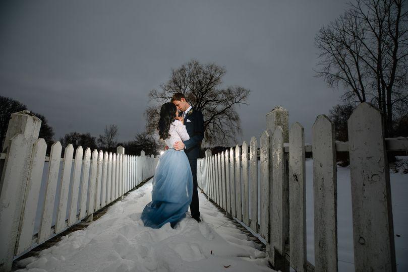 Romance on the bridge