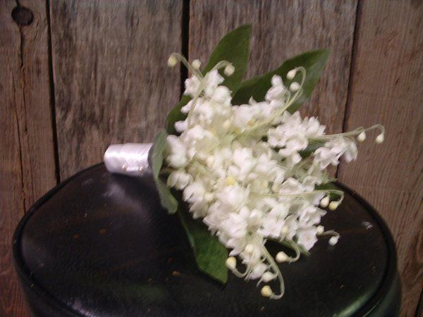 Silk Lily of the Valley Bridesmaids Bouquets